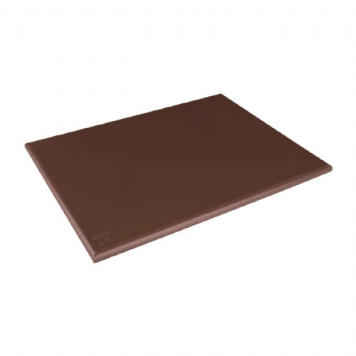 Hygiplas Extra Thick Low Density Brown Chopping Board - DM003